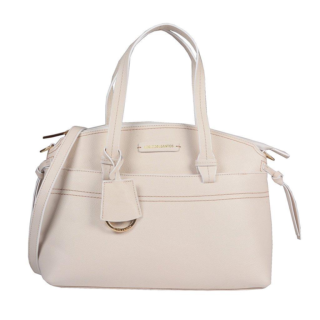 Bolsa em Couro Off White com Bag Charm V20