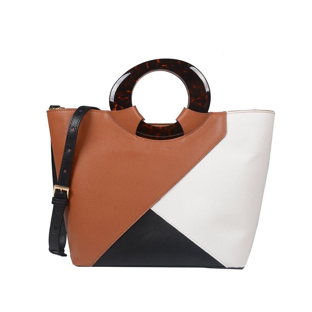 Bolsa Estruturada com Recortes Geométricos Multicolor I20