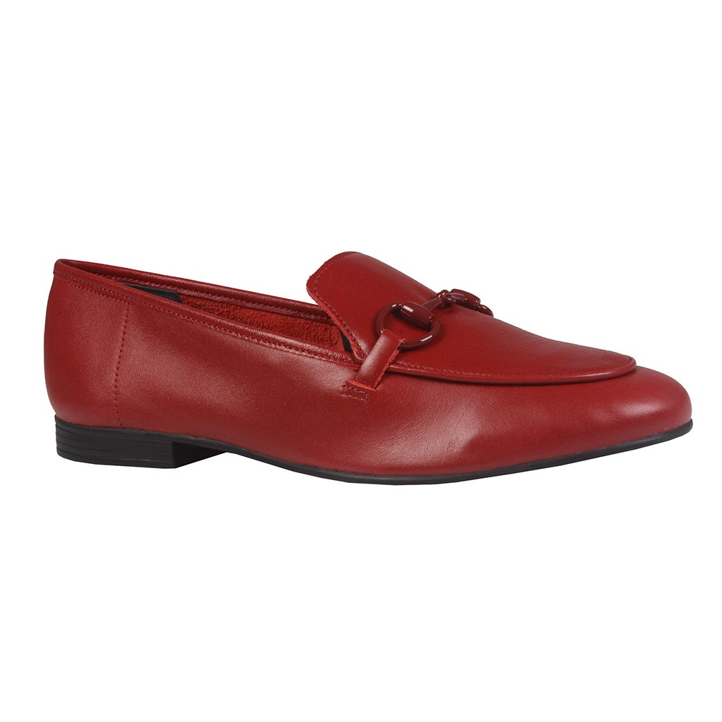 Loafer Couro Dark Red Resinado I21