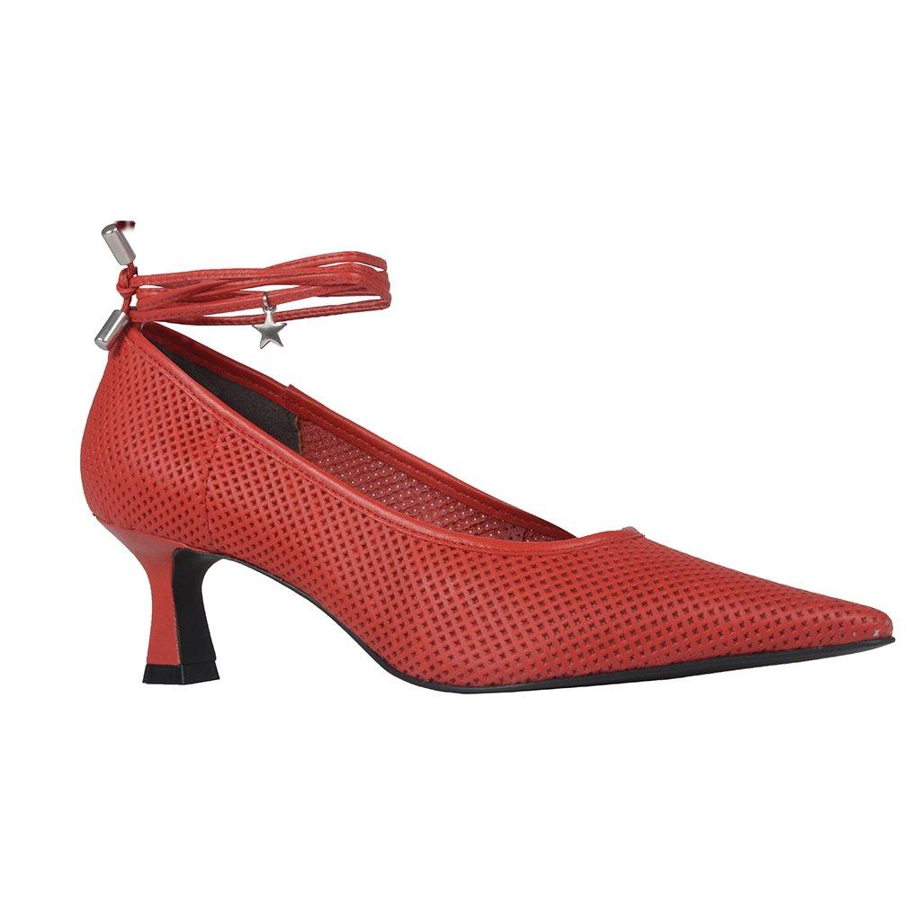 Scarpin Couro Vazado Red I21