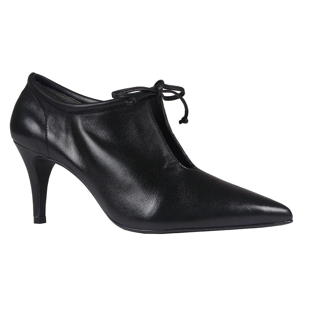 Ankle Boot Couro Preta I20