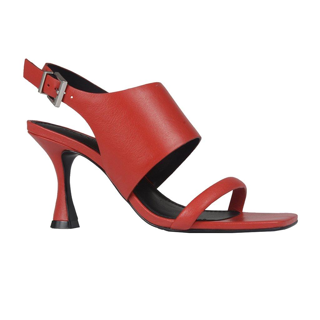 Sandália Red com Salto Taça e Bico Quadrado I21