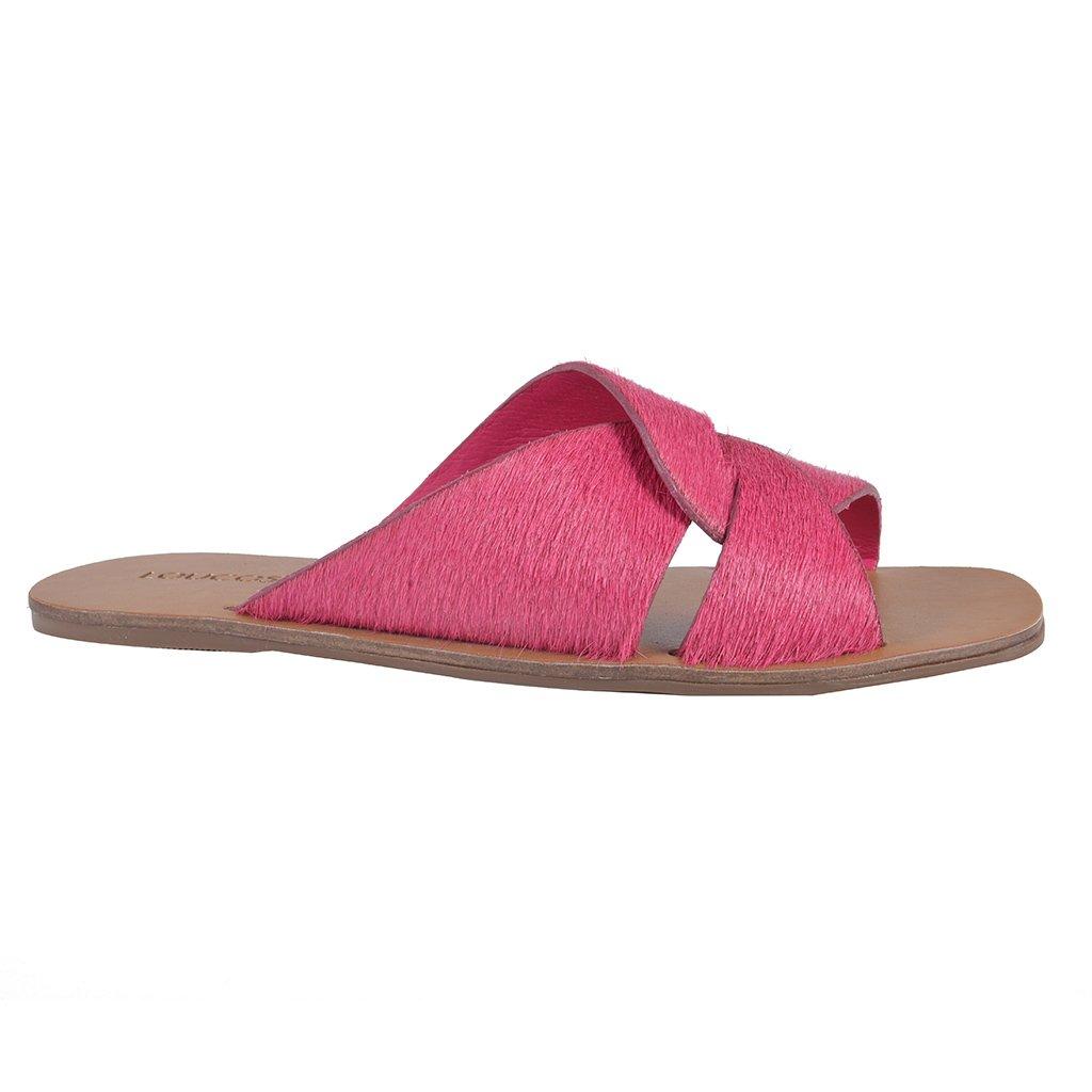 Rasteirinha Couro Pelo Pink I20