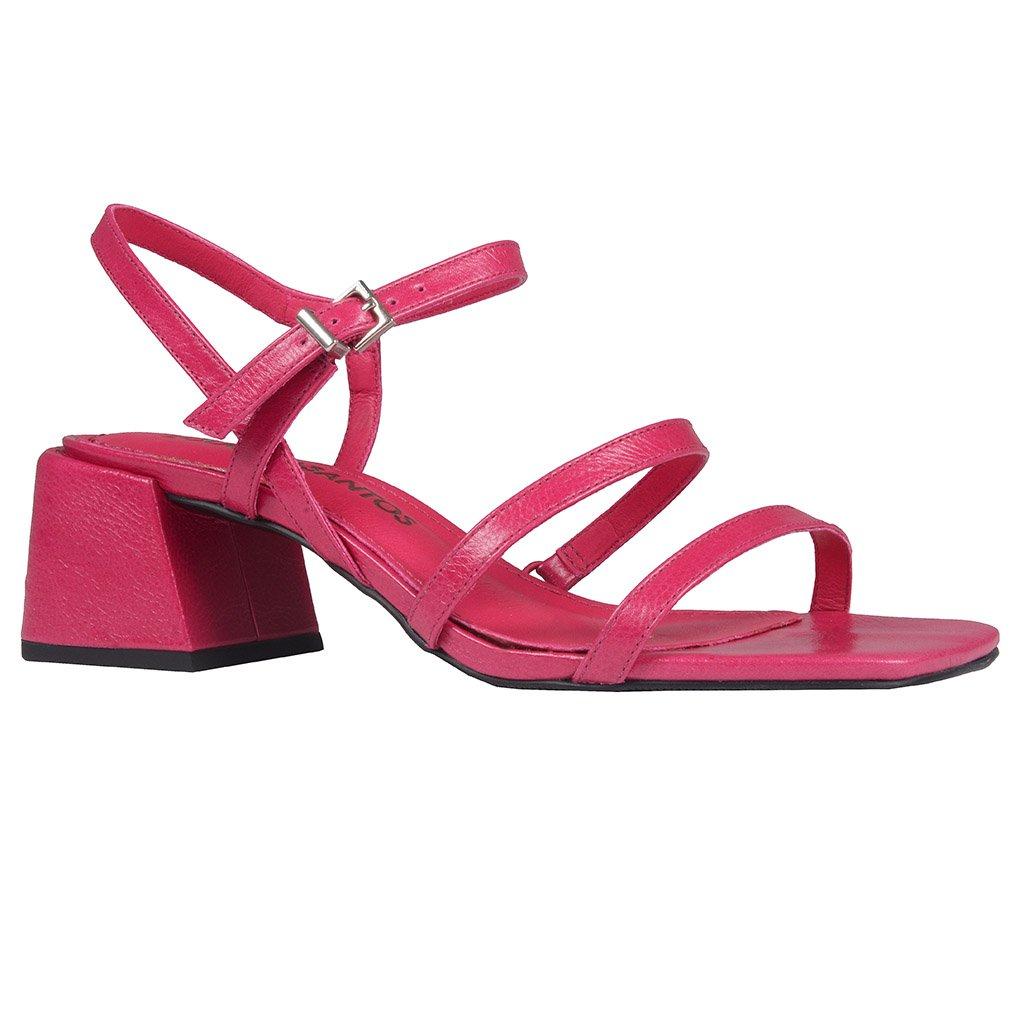 Sandália Tiras Couro Pink I20