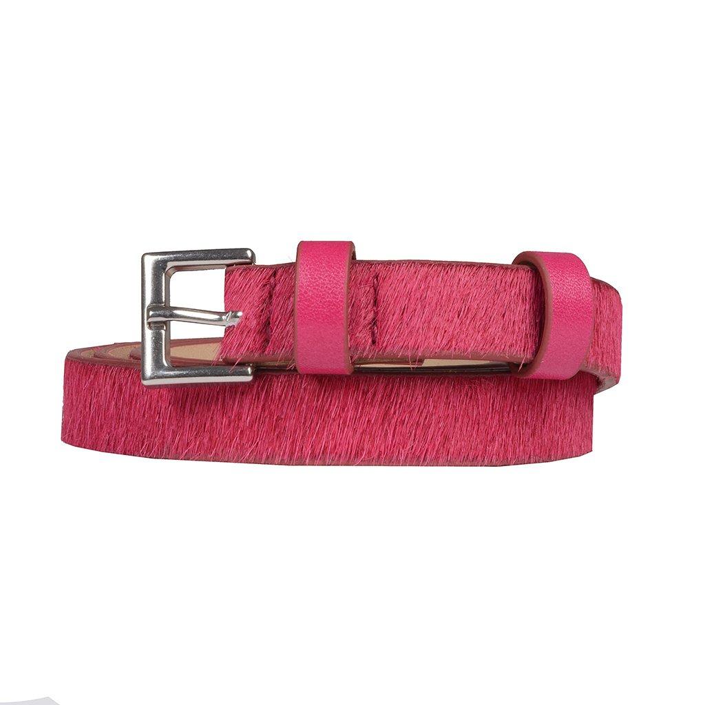 Cinto Fino Couro Pelo Pink I20