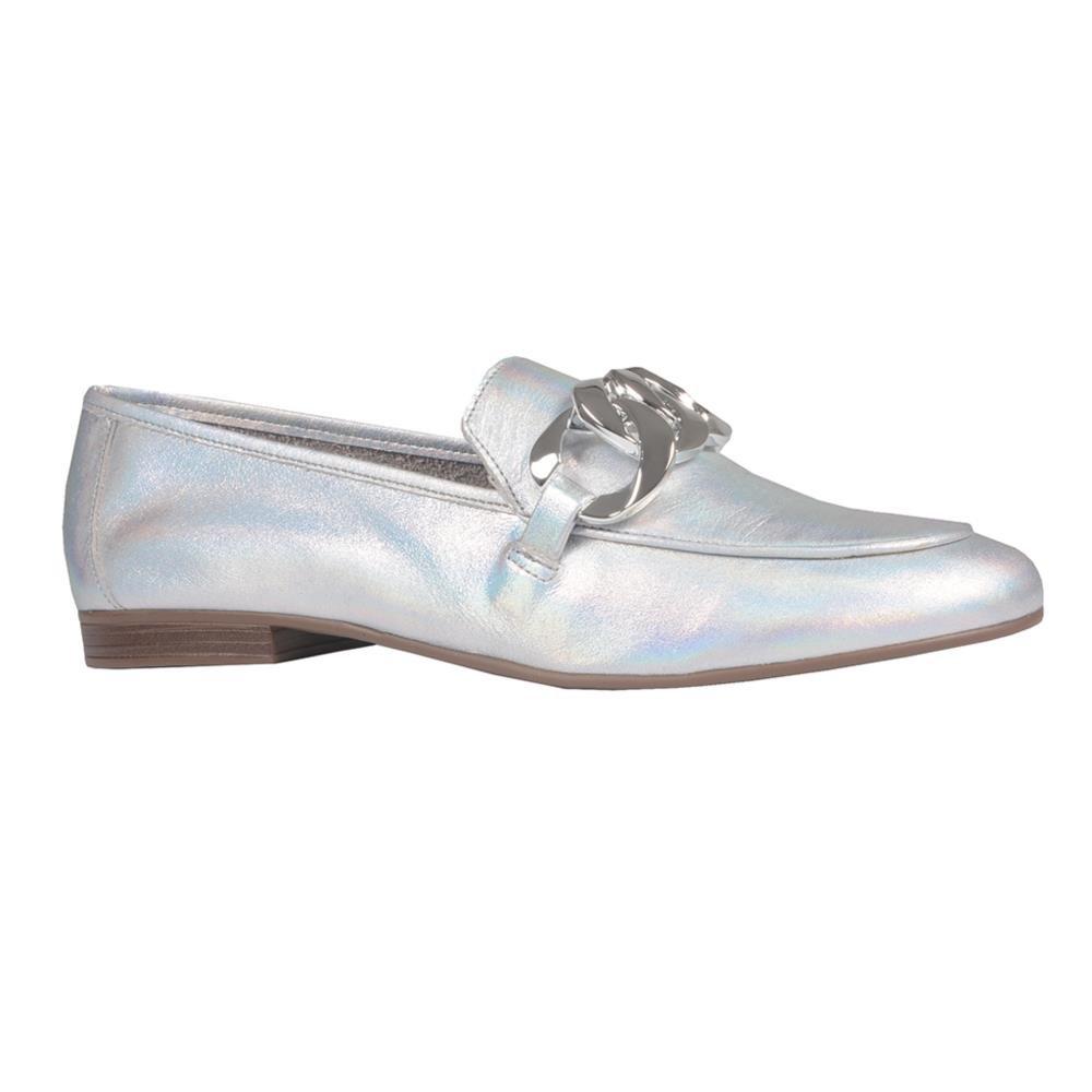 Loafer Couro Holográfico Prata V21