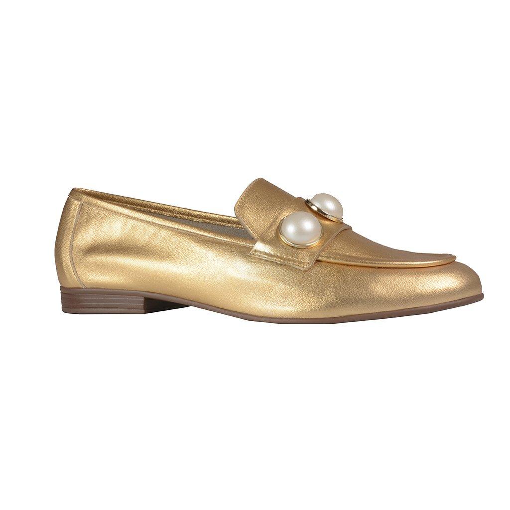 Loafer Dourado com Pérolas I21