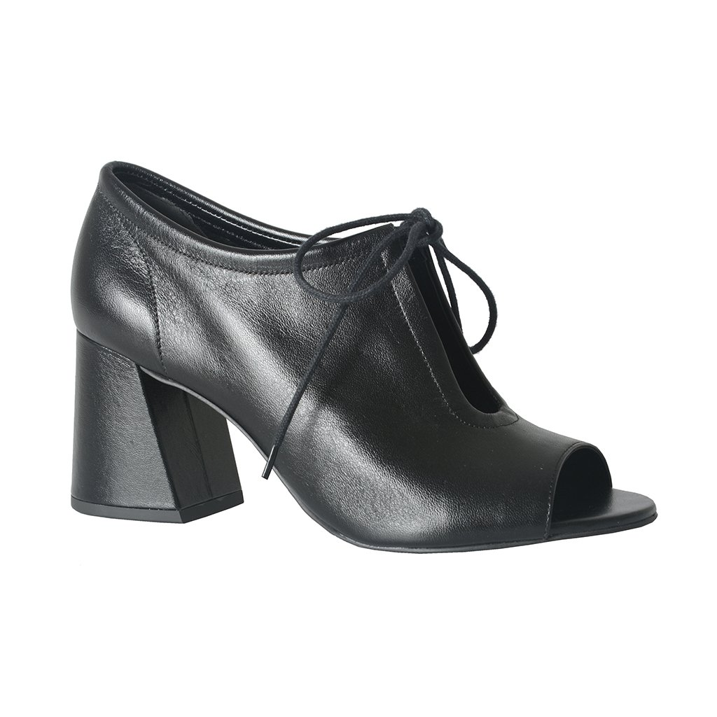 Open Boot Couro Preta I21