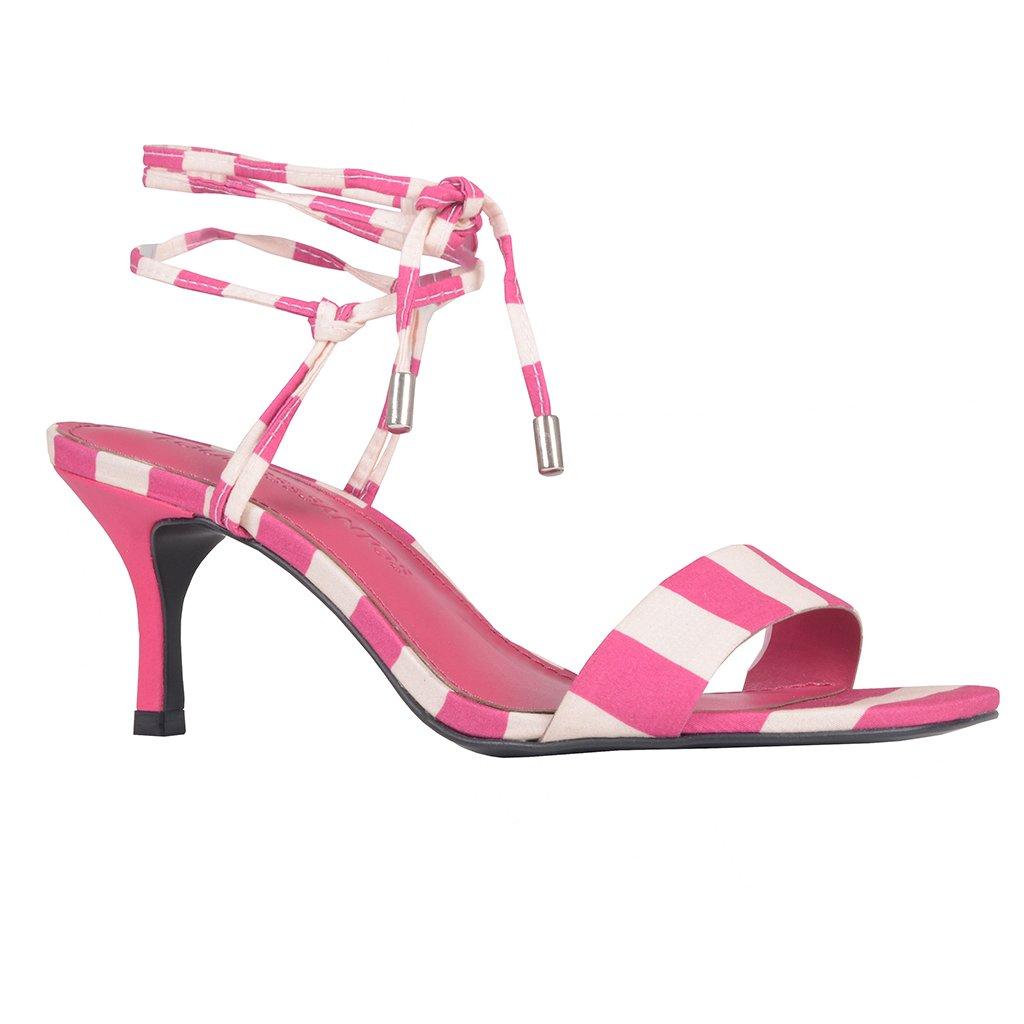 Sandália Listras Pink com Amarração I20