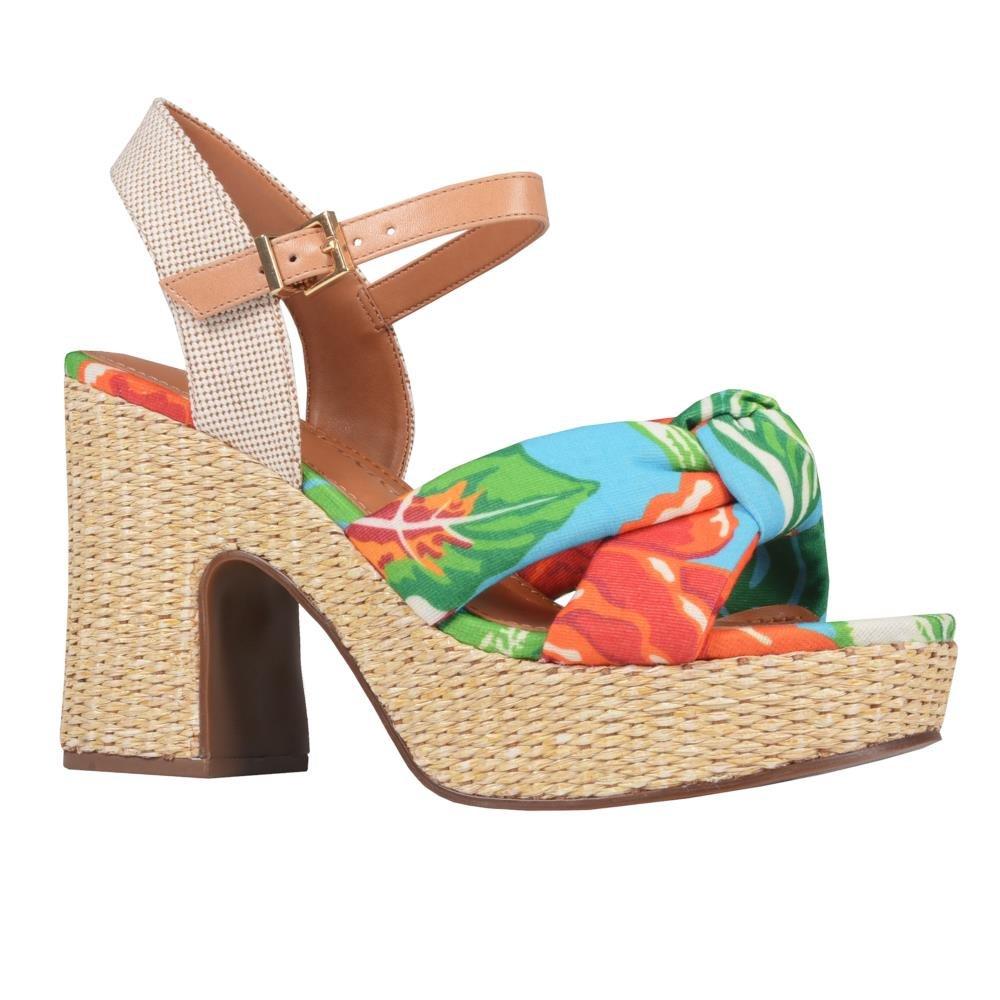 Sandália Plataforma Chita Floral V21