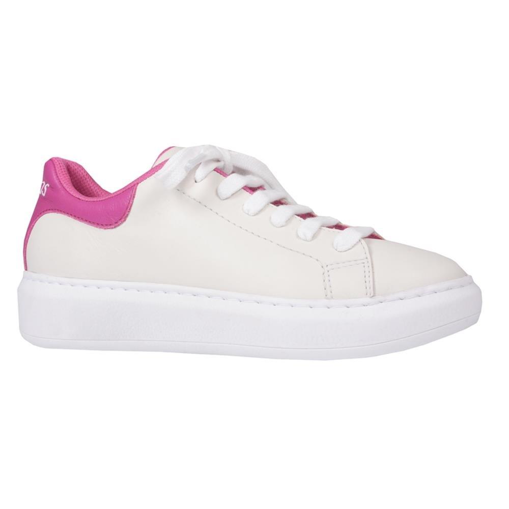 Tênis Casual Branco com Rosa V21