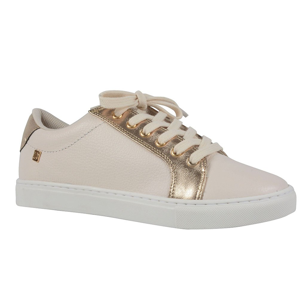 Tênis Casual Couro Off White