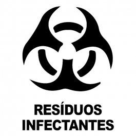 Imagem -  Adesivo Coleta Seletiva Resíduos Infectantes cód: 6.0008.00.0