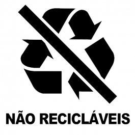 Imagem - Adesivo Coleta Seletiva Não Recicláveis cód: 6.0003.00.0