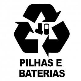 Imagem - Adesivo Coleta Seletiva Pilhas e Baterias cód: 6.0012.00.0