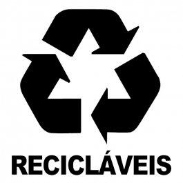 Imagem - Adesivo Coleta Seletiva Recicláveis cód: 6.0002.00.0