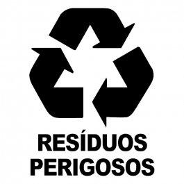 Imagem - Adesivo Coleta Seletiva Resíduos Perigosos cód: 6.0009.00.0