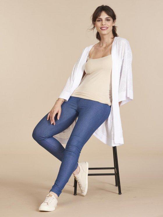 Legging Gestante Cotton Denim