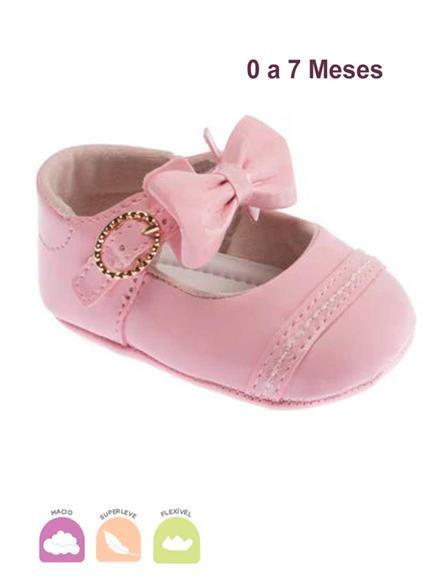 Sapato Bebe Fofura Rosa