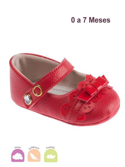 Sapato Pimpolho Fofura Vermelho
