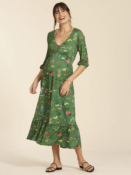Vestido Gestante e Amamentação Outono Estampado
