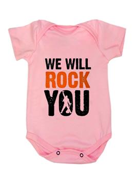 Body Manga Curta WE WILL ROCK YOU