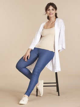 Legging Gestante Cotton Denim