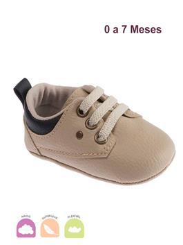 Sapato Bebe Pimpolho Safari Bege e Preto