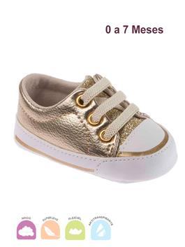 Tenis Bebe Star Premium Dourado
