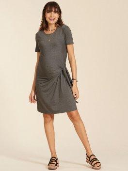 Vestido gestante com Amarração Livia