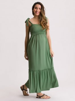 Vestido de Amamentação com Top em Lastex