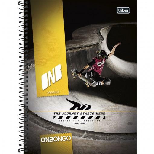Caderno Espiral Capa Dura Universitário 10 Matérias Onbongo 200 Folhas - Sortido (Pacote com 4 unidades)