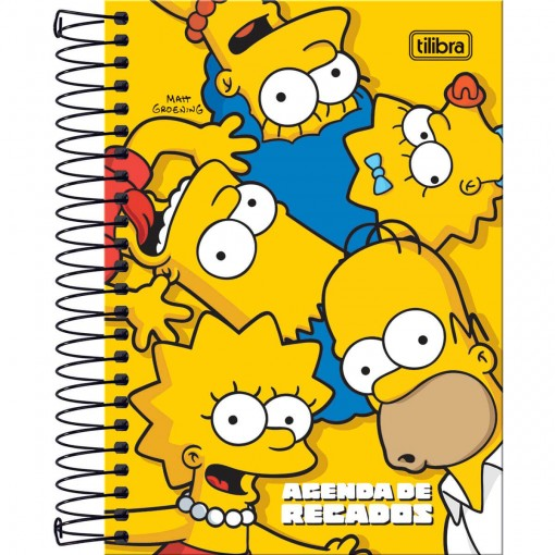 Agenda Espiralada de Recados Simpsons - Tilibra