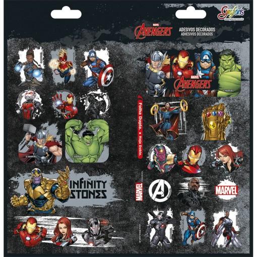 Adesivo Decorado Duplo Avengers