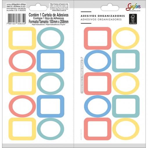 Adesivos Organizadores Mistos Borda Colorida Grafons