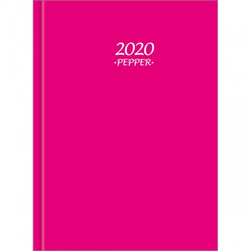Agenda Costurada Diária Pepper Rosa 2020