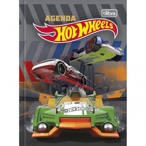 Agenda Escolar Costurada 2 Dias por Página Hot Wheels Permanente - Sortido