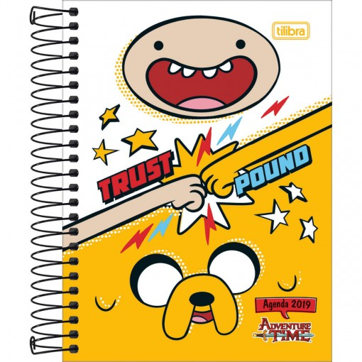 Agenda Espiral Diária Adventure Time 2019 - Sortido