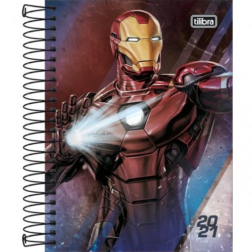 Agenda Espiral Diária Avengers 2021 - Sortido