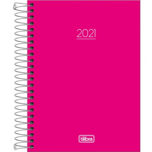 Agenda Espiral Diária Pepper Rosa 2021