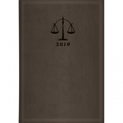 Agenda Executiva Costurada Diária de Mesa Advogado Marrom 2019