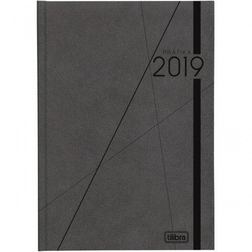 Agenda Executiva Costurada Diária de Mesa Prátika Preta 2018