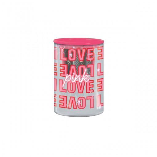 Apontador 2 Furos com Depósito Love Pink - Sortido