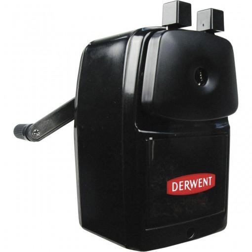 Apontador de Mesa Manual com Manivela 1 Furo com Depósito Super Point Grande Derwent