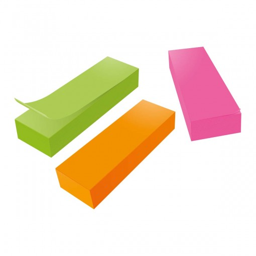 Bloco Adesivo Tili Notes 76x25mm 300 folhas 3 Cores Neon