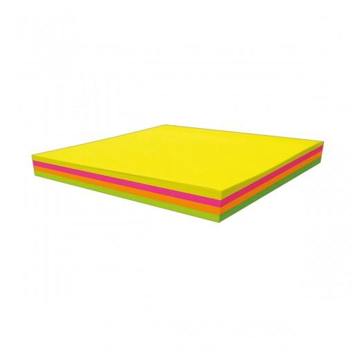 Bloco Adesivo Tili Notes 76x76mm 100 folhas 4 Cores Neon