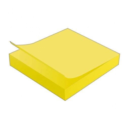 Bloco Adesivo Tili Notes 76x76mm 100 folhas Amarelo Neon
