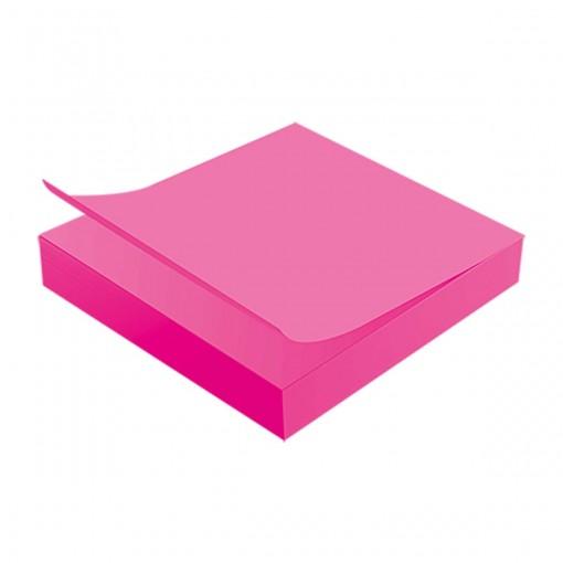 Bloco Adesivo Tili Notes 76x76mm 100 folhas Rosa Neon
