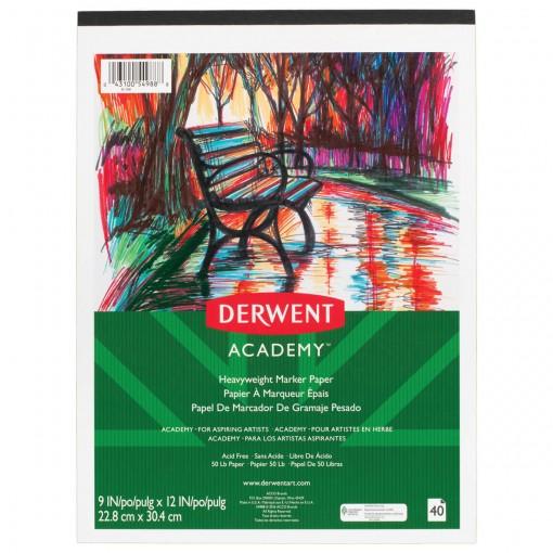 Bloco de Papel para Marcador Derwent Academy 105 g/m²  22,9x30,5cm 40 folhas