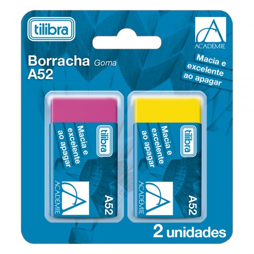 Borracha Académie A52 Neon - Blister com 2 Unidades